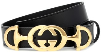 Gucci GG Horsebit leather belt