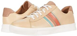 Clarks Un Maui Band (Light Tan Leather/Suede Combination) Women's Shoes