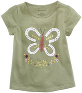 First Impressions Butterfly-Print Cotton T-Shirt, Baby Girls (0-24 months), Created for Macy's