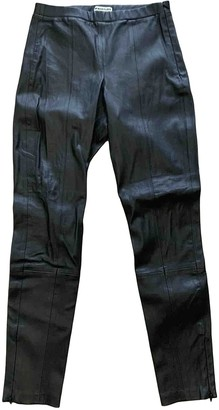 Whistles Black Leather Trousers for Women
