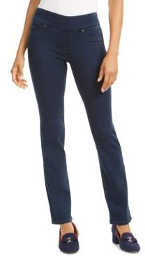 Charter Club Knit Denim Straight Pull-On Leg Jeans, Created for Macy's