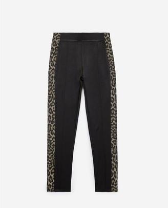 The Kooples Straight black viscose trousers w/side stripe