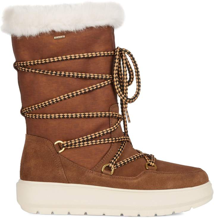 Geox Amphibiox Kaula Faux Fur-Lined Tall Winter Boots