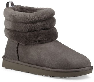 Mini Fluff Quilted Shearling-Lined Suede Boots