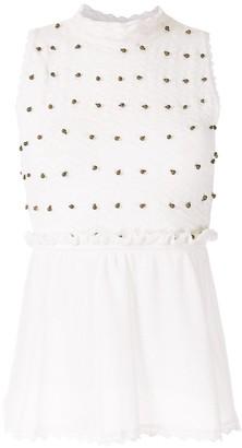 Nk Embellishment Knitted Blouse