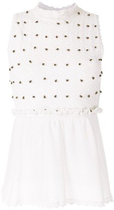 Nk Embellishment Knitted Blouse