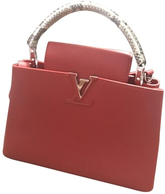 Louis Vuitton Capucines Red Leather Handbags
