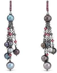 David Yurman Oceanica Fringe Earrings with Grey Pearls and Hematine