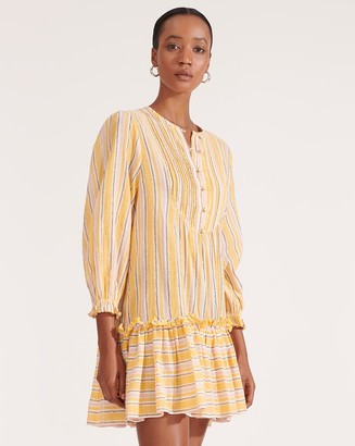 Veronica Beard Tibbett Striped Cover-Up Dress