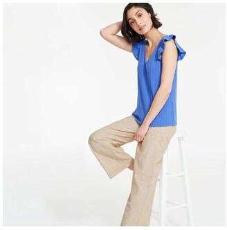 Joe Fresh Women's Elastic Waist Pants, Light Khaki Brown (Size S)