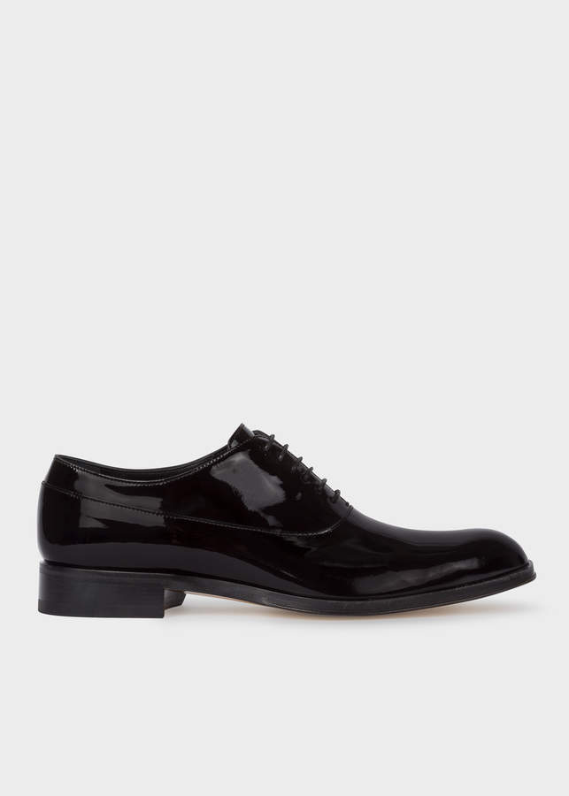 Paul Smith Men's Black Patent Leather 'Noam' Oxford Shoes