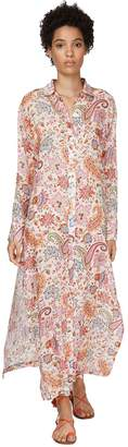 Etro Printed Ramie Shirt Dress