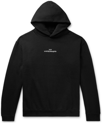Maison Margiela Logo-Embroidered Loopback Cotton-Jersey Hoodie
