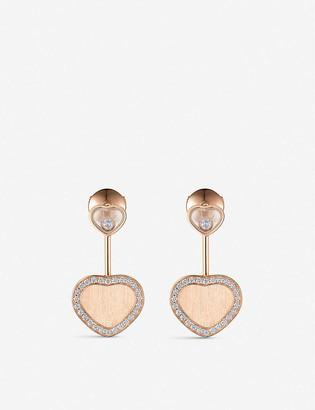 Chopard Happy Hearts Golden Hearts 18ct rose-gold diamond earrings