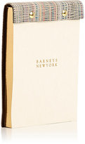 Barneys New York Striped Leather-Bound Notepad