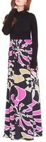 Olian Women's 'Claire' Maternity Maxi Dress