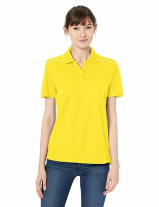 Ashe City Women's ACTY-78181R-Performance Pique Polo with Reflective Piping