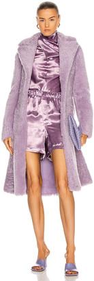 Bottega Veneta Teddy Shearling Coat in Lavender | FWRD