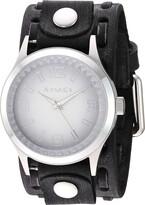 Nemesis Gradient Pointium Stainless Steel Analog-Quartz Leather Strap Grey 38.3 Casual Watch (Model: FWTK217W)