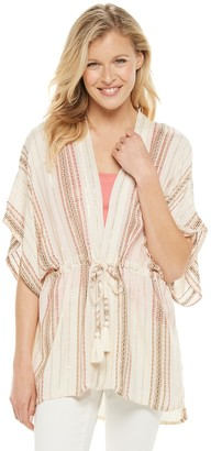 Sonoma Goods For Life Women's Striped Drawstring Topper
