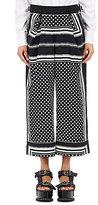 Sacai Women's Batiste Culottes-BLACK, WHITE