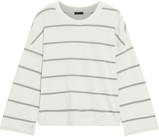 ATM Anthony Thomas Melillo Cropped Striped Cotton-jersey Top