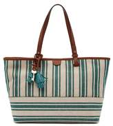 Fossil Rachel Striped Canvas Tote