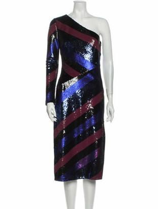 Diane von Furstenberg Silk Midi Length Dress Blue
