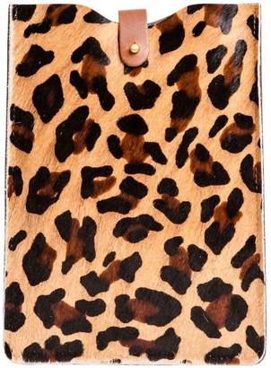 N'damus London Leopard Print Leather Ipad Mini Sleeve