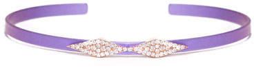 Diane Kordas Cosmos Double-Heartbeat Titanium Bracelet with Diamonds, Purple