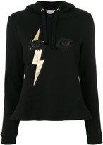 RED Valentino lightning eye print hoodie - women - Cotton/Polyamide - S