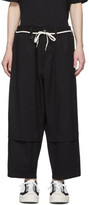 Y-3 Y 3 Black Cropped Workwear Cargo Pants