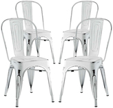 Modway Promenade Steel Side Chair - Set of Four