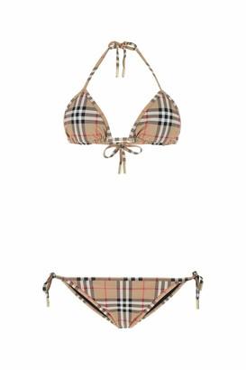 Burberry Vintage Check Triangle Two-Piece Bikini