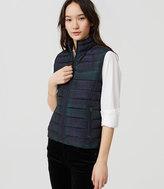 LOFT Petite Plaid Puffer Vest