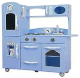 Teamson Kids My Little Chef Retro Play Kitchen in Blue