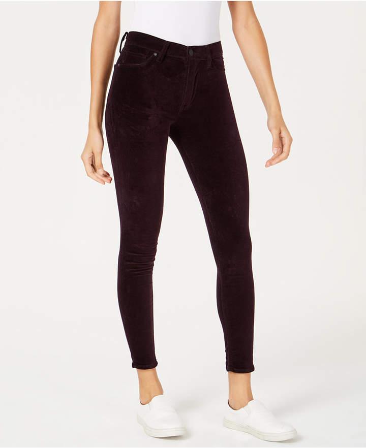 Hudson Barbara Velvet Super-Skinny Ankle Jeans