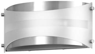 Linea Di Liara Acciaio Wall Sconce Brushed Nickel With White Diffuser