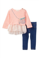 Jessica Simpson Heathered French Terry Top & Legging Set (Baby Girls)