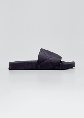 Bottega Veneta Puffy Flat Pool Slide Sandals