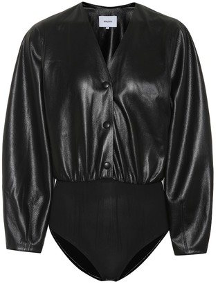 Nanushka Exclusive to Mytheresa Dara faux leather bodysuit