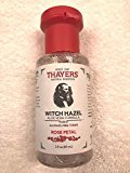 Thayer Rose Petal Witch Hazel with Aloe Vera Alcohol-free (3 Ounces) Travel Size