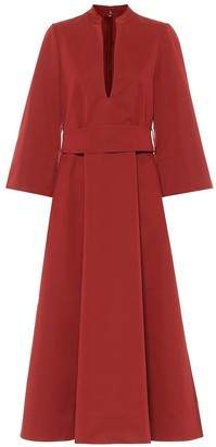 Jil Sander Cotton and silk midi dress