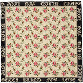 Gucci Ivory SIlk Blind For Love Scarf