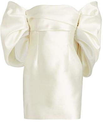 SOLACE London Elina Off-the-Shoulder Puff-Sleeve Mini Dress