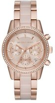 MICHAEL Michael Kors 37mm Ritz Bracelet Strap Chronograph Watch, Rose Golden