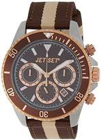Jet Set J2120R 18-Speedway's Watch Quartz Chronograph Bracelet Brown Dial Fabric Brown