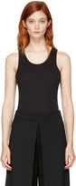 Alexander Wang Black Sleeveless Ribbed Bodysuit