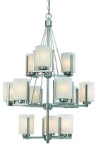 Dolan Designs 2243-09 12 Light Up Lighting Chandelier from the Uptown Collection