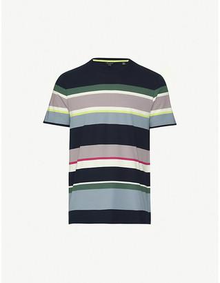 Ted Baker Sleep striped cotton-jersey T-shirt